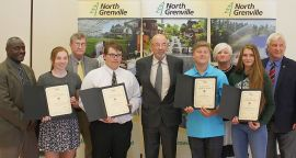 North Grenville District High School Recipients with Mayor Gordon and Council