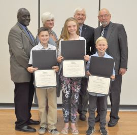 South Branch Elementary School Recipients with Mayor Gordon & Council