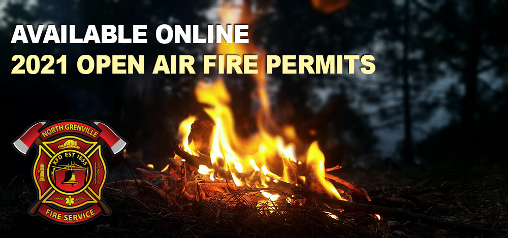 Open air fire permits