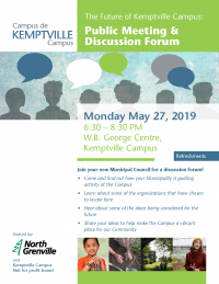 Public Meeting & Discussion Forum to be Held at Kemptville Campus